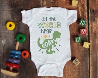 Let The World Hear You Roar Cute Adorable Unisex Baby Onesie® - Great Baby Shower Gifts