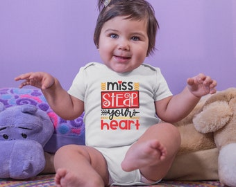 Miss Steal Your Heart Valentine's Onesie® - Cute Valentine's Gift for Baby Girl