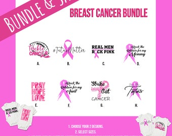 Breast Cancer Pink Baby Onesie® Bundles - Support the Cause with Breast Cancer Awareness Onesies for Babies