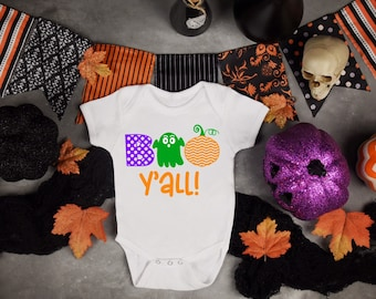 Boo Yall Unisex Baby Onesie® - Great Halloween Outfit For New Baby