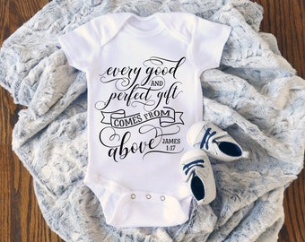 Every Good and Perfect Gift Cute Encouraging Uplifting Inspiring Baby Onesie® - Great Gift For Baby Showers