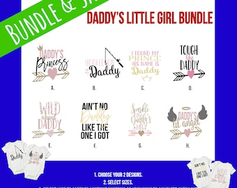 Daddy's Little Girl Baby Onesie® Bundles - Perfect Baby Shower Gifts