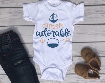 Captain Adorable Cute Adorable Baby Boy Onesie® - Great Gifts for Baby