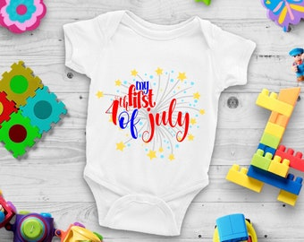 My First 4th of July Cute Holiday Unisex Baby Onesie® - Great For My First Holiday Gifts
