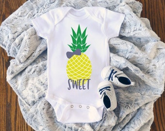 Sweet Pineapple Cute Adorable Unisex Baby Onesie® - Great Baby Shower Gifts
