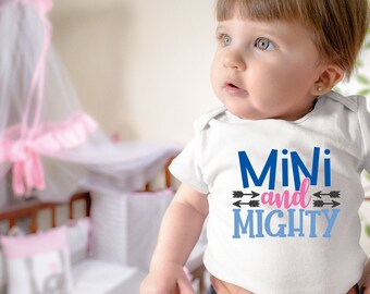 Mini and Mighty Cute Encouraging Uplifting Inspiring Unisex Baby Onesie® - Great Gift For Baby Showers