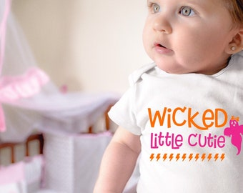 Wicked Little Cutie Baby Girl Onesie® - Great Halloween Outfit For Baby Girl