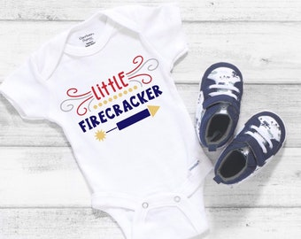 Little Firecracker Cute Funny Holiday Unisex Baby Onesie® - Great For My First Holiday Gifts