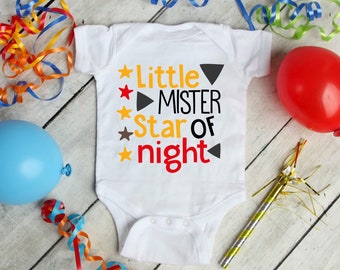 Little Mister Star Of Night Cute Adorable Baby Boy Onesie® - Great Gifts for Baby