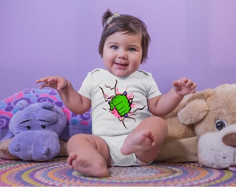 Pink Hulk Fist Adorable Baby Girl Onesie® - Great Gifts for New Parents That Love Marvel