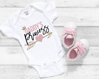 Daddy's Princess Cute Little Baby Girl Onesie® - Daddy'a Little Girl, Great Gift for New Dad's