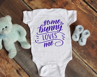Some Bunny Loves Me Cute Holiday Unisex Baby Onesie® - Great For My First Holiday Gifts