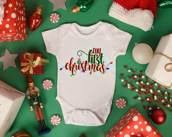 My First Christmas Unisex Baby Onesie® - Perfect Outfit For Baby Celebrating First Christmas