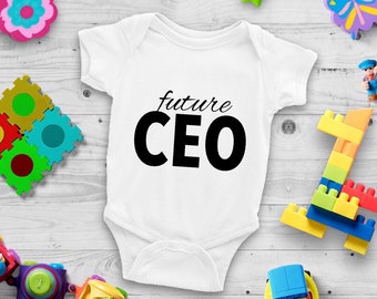Future CEO Cute Adorable Unisex Baby Onesie® - Great Baby Shower Gifts