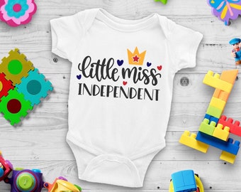 Little Miss Independent Lovely Adorable Baby Girl Onesie® - The Perfect Baby Shower Gift