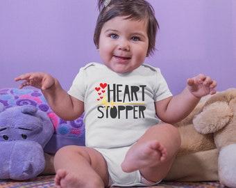 Heart Stopper Valentine's Onesie® - Great Valentine's Gift for Babies First Valentines.