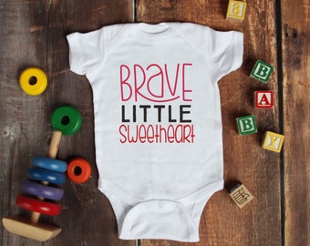 Brave Little Sweetheart Cute Adorable Unisex Baby Onesie® - Great Baby Shower Gifts