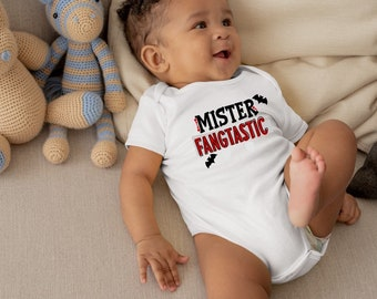 Mister Fangtastic Halloween Baby Boy Onesie® - Great Halloween Outfit For New Baby Boy