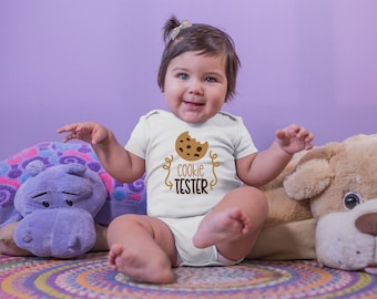 Cookie Tester Cute Funny Unisex Baby Onesie® - Makes A Great Baby Gift
