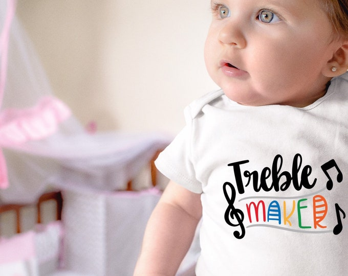 Featured listing image: Treble Maker Baby Onesie® - Perfect For Musical Parents