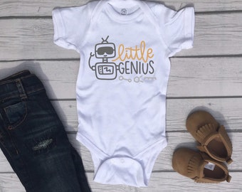 Little Genius Cute Adorable Unisex Baby Onesie® - Great Baby Shower Gifts