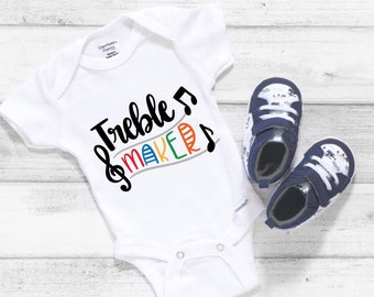 Treble Maker Musical Baby Onesie® - Perfect Gift For New Musical Mom and Dad