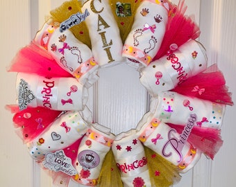 Unique Baby Gift, Onesie® Wreath, Almost Like A Diaper Wreath, But With Onesies® - Cute Unique Baby Shower Gift