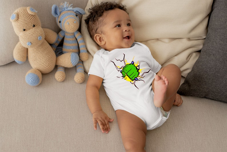 Hulk Fist Cute Adorable Baby Boy Onesie®  Great Gifts for image 0