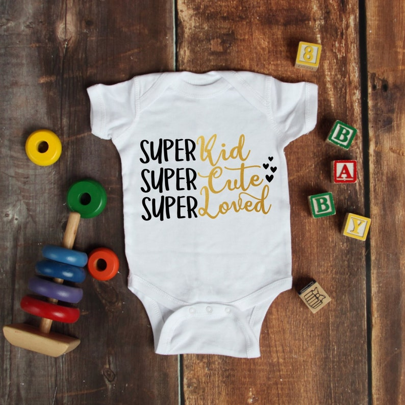 Super Cute Loved Kid Cute Adorable Unisex Baby Onesie®  Great image 0