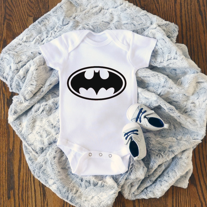 Batman Super Hero Baby Boy Onesie®  Perfect Baby Shower Gift image 0