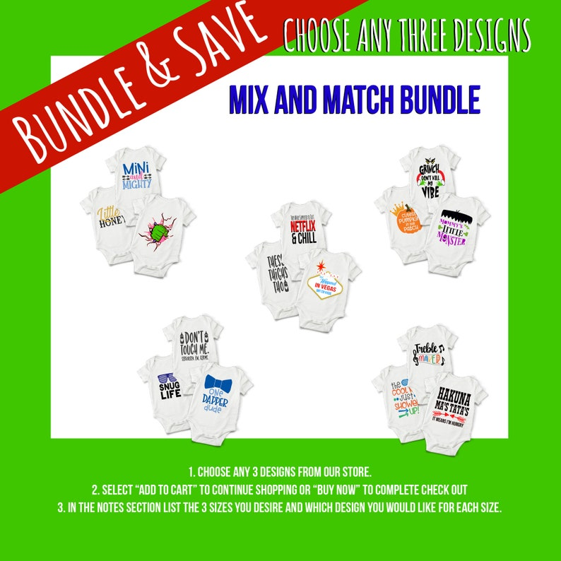 Mix and Match Baby Onesie® Bundles  Perfect Baby Outfit Gifts image 0