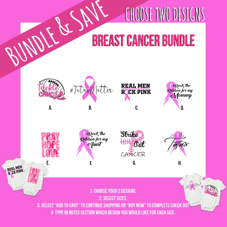 Breast Cancer Pink Baby Onesie® Bundles  Support the Cause image 0