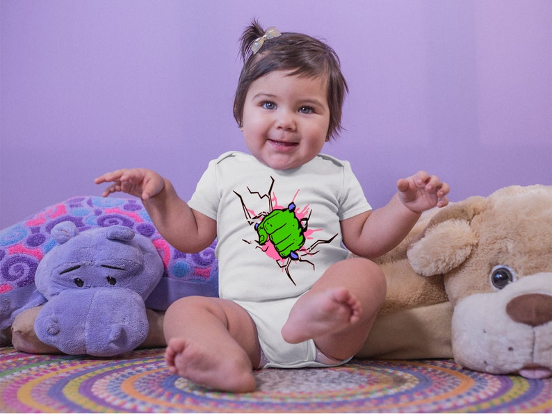 Hulk Fist Cute Pink Adorable Baby Girl Onesie®  Great Gifts image 0