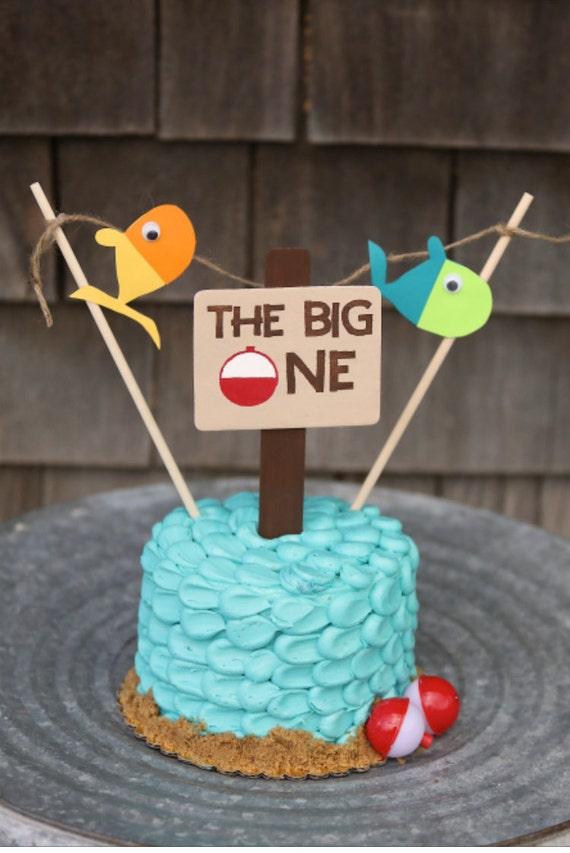Magnificent Fish Birthday Cake Topper Etsy Funny Birthday Cards Online Alyptdamsfinfo