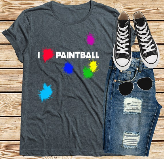 Kids // Childrens T-Shirt Paint Ball Keep Calm and Play Paintball 8 Colours