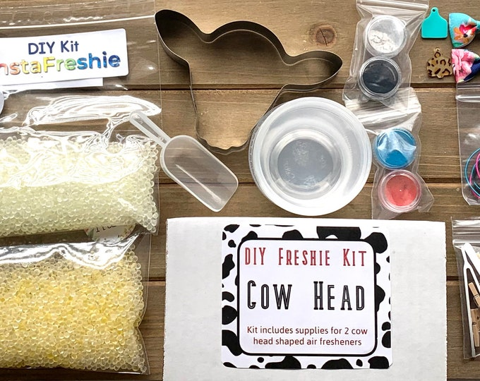 DIY Aromie Freshie Kit- Cow Head Car Air Freshener