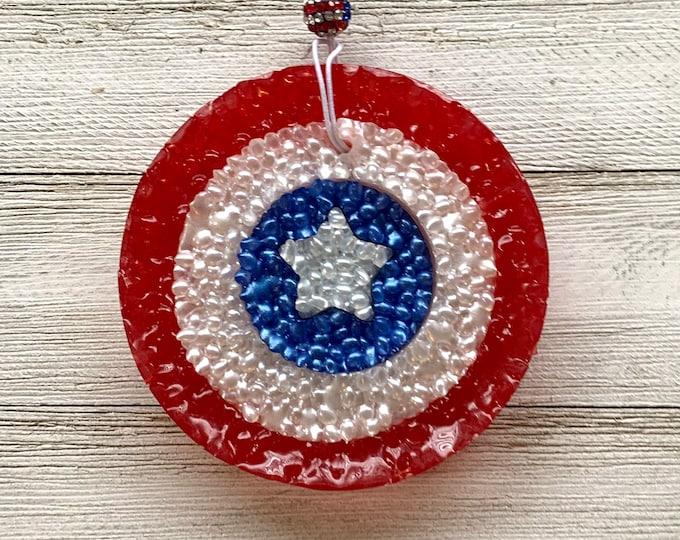 Captain America Car Air Freshie Freshener Aromie