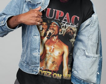 Graphic Tee 2 Pac Only God Can Judge Me Short Sleeve Black T Big Tall Small