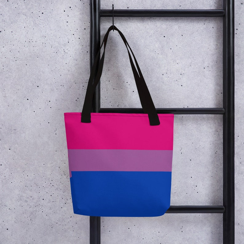 Bisexual Pride Flag All-Over Print Tote