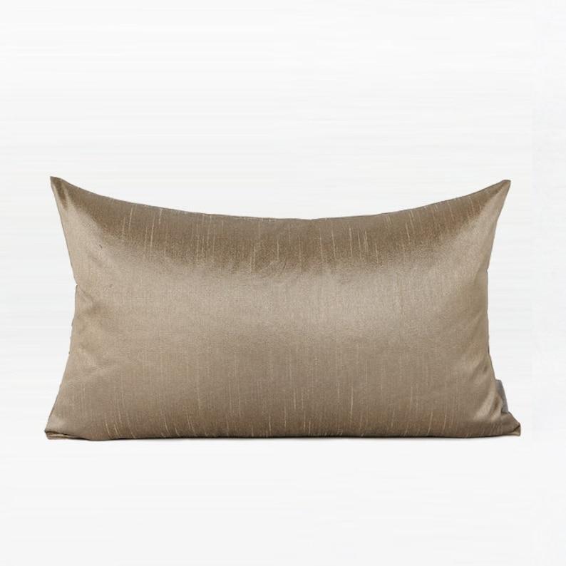Clio Jacquard Brown Cushion