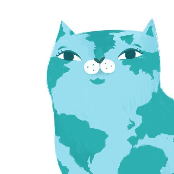 SOLEIL Cat Painting \u2022 Art for cat lover \u2022 Original cat art on canvas \u2022 Title