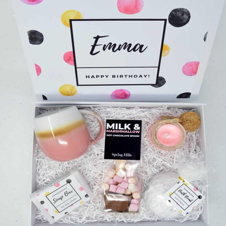 Personalised birthday gift for her birthday gift set image 0