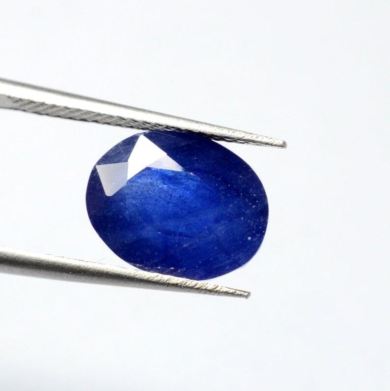 AAA++ Blue Sapphire Oval Shape Loose Gemstone,6.30 Ct