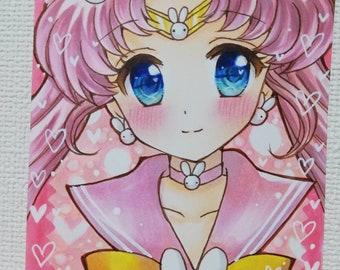 Hand drawn illustration Sailor Moon