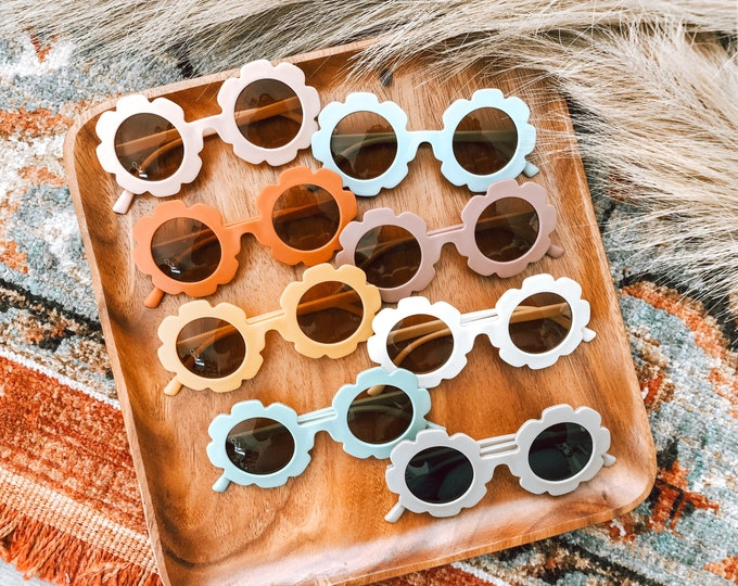 Featured listing image: Matte Flower Sunnies (Kids Sized)