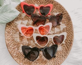 Retro Cat Eye Heart Sunglasses