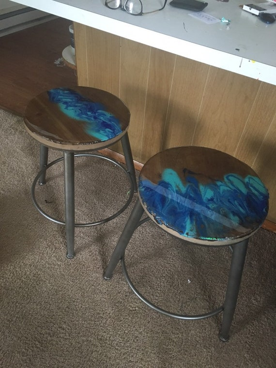 Astounding Resin Waterfall Style Bar Stools Wood And Metal Bralicious Painted Fabric Chair Ideas Braliciousco