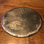 Round Forged Metal Coasters - Hand Forged Industrial Steel Drink Coaster - Blacksmith Made for Wrought Iron Gifts - Set of 4