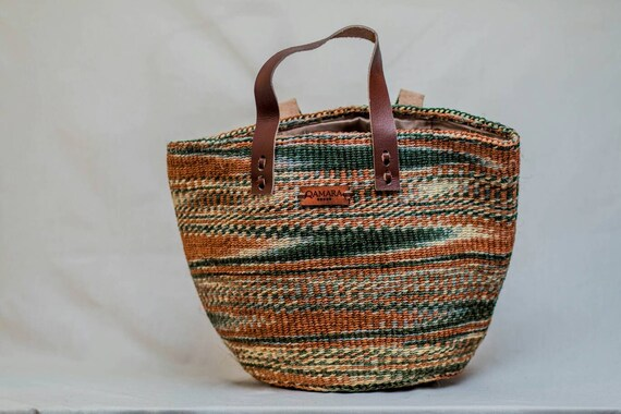 Tote Raffia Beach Boho Summer  Basket  Shopping  Kiondoo Storage bag