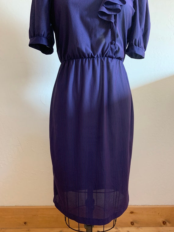 Vintage 1980's Striped Dress Medium - image 2